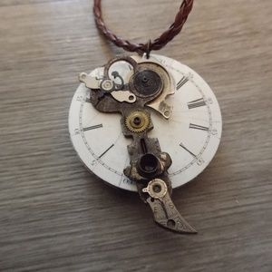 Jewelry - Steampunk vintage key necklace cosplay antique